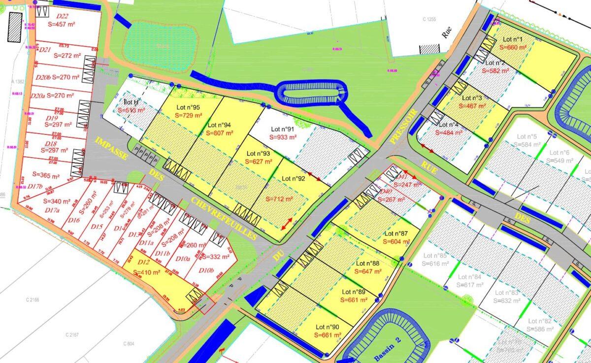 ZAC des Clonières à La Roche-Blanche - Plan de Composition ZAC des Clonières