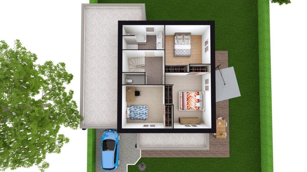 Modèle de Maison QUARTZ, 6 pièces de 136m² - Proposition d'Aménagement du R+1