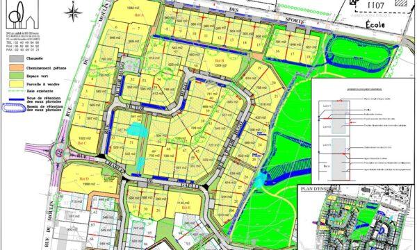 Zac de la Gergauderie à Fay-de-Bretagne - Plan de Composition Tranche 1