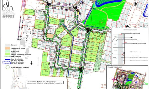 Zac de la Gergauderie à Fay-de-Bretagne - Plan de Composition Tranche 2