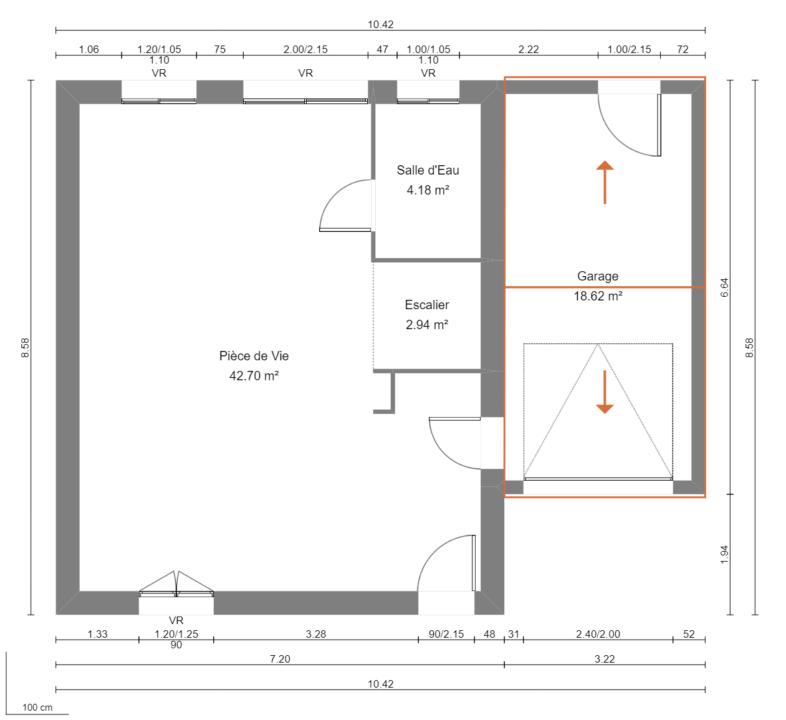 Modèle de Maison MAERL, 5 pièces de 93m² - Plan du RdC