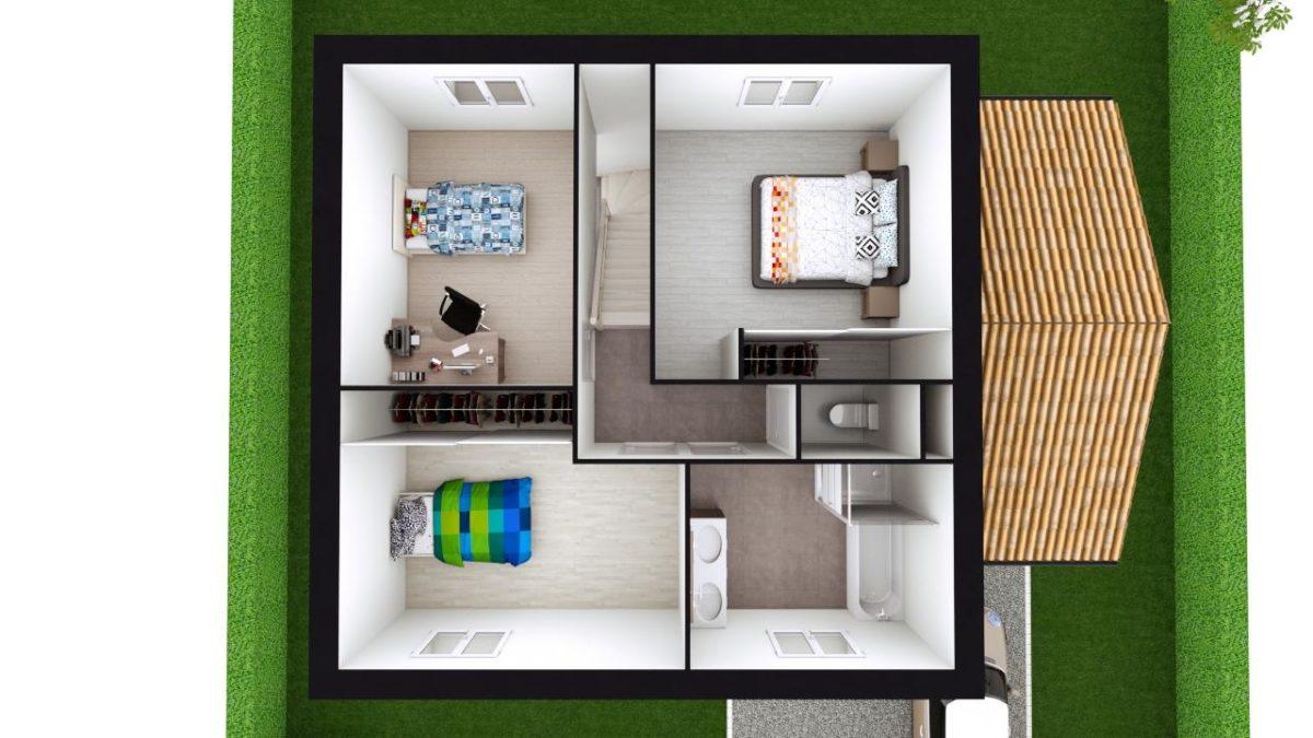 Modèle de Maison PHTALATE, 6 pièces de 109m² - Proposition d'Aménagement du R+1