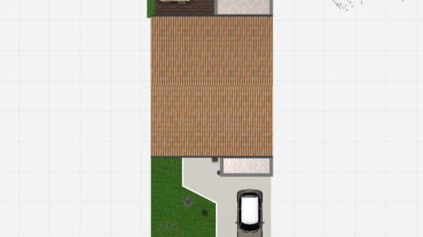 Modèle de Maison PLATINE, 5 pièces de 107m² - Vue de Dessus en Tuile