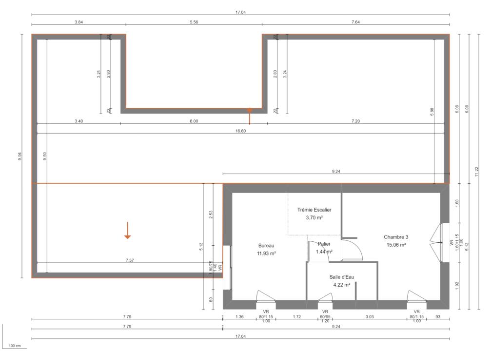 Modèle de Maison PYRITE, 6 pièces de 135m² - Plan du R+1