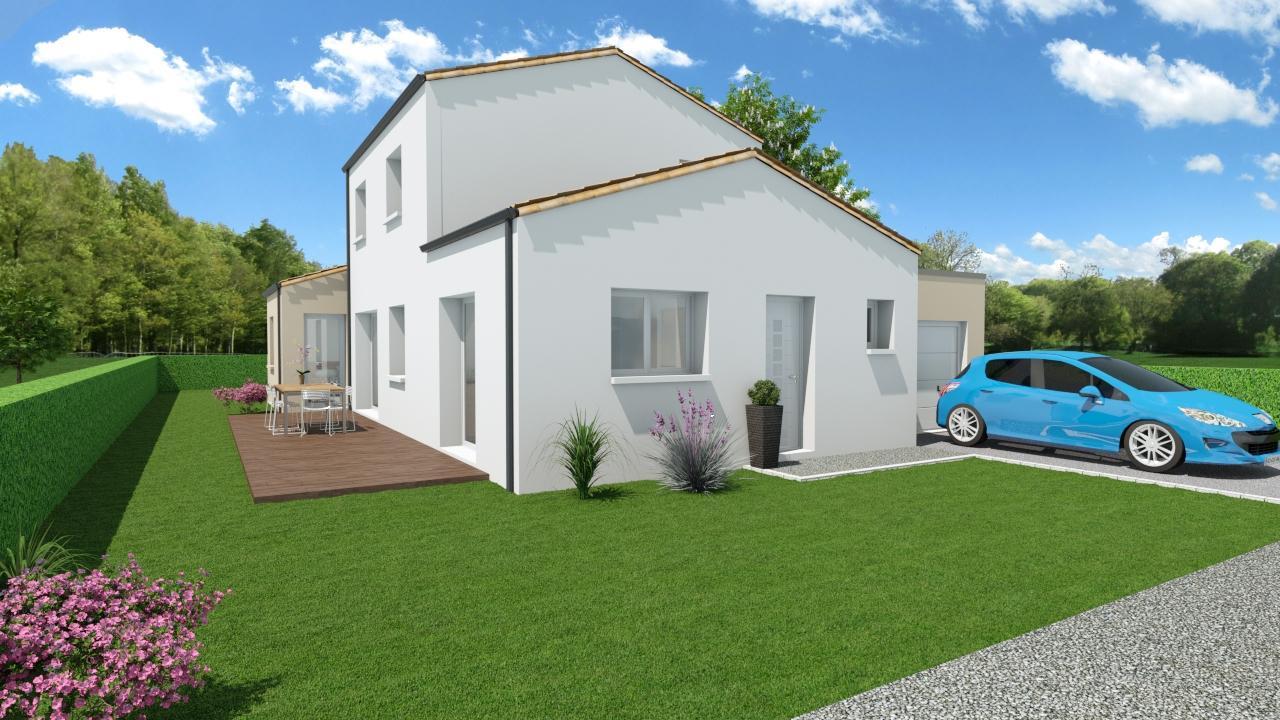Modèle de Maison PHONOLITHE, 6 pièces de 112m² - Perspective Avant en Tuile