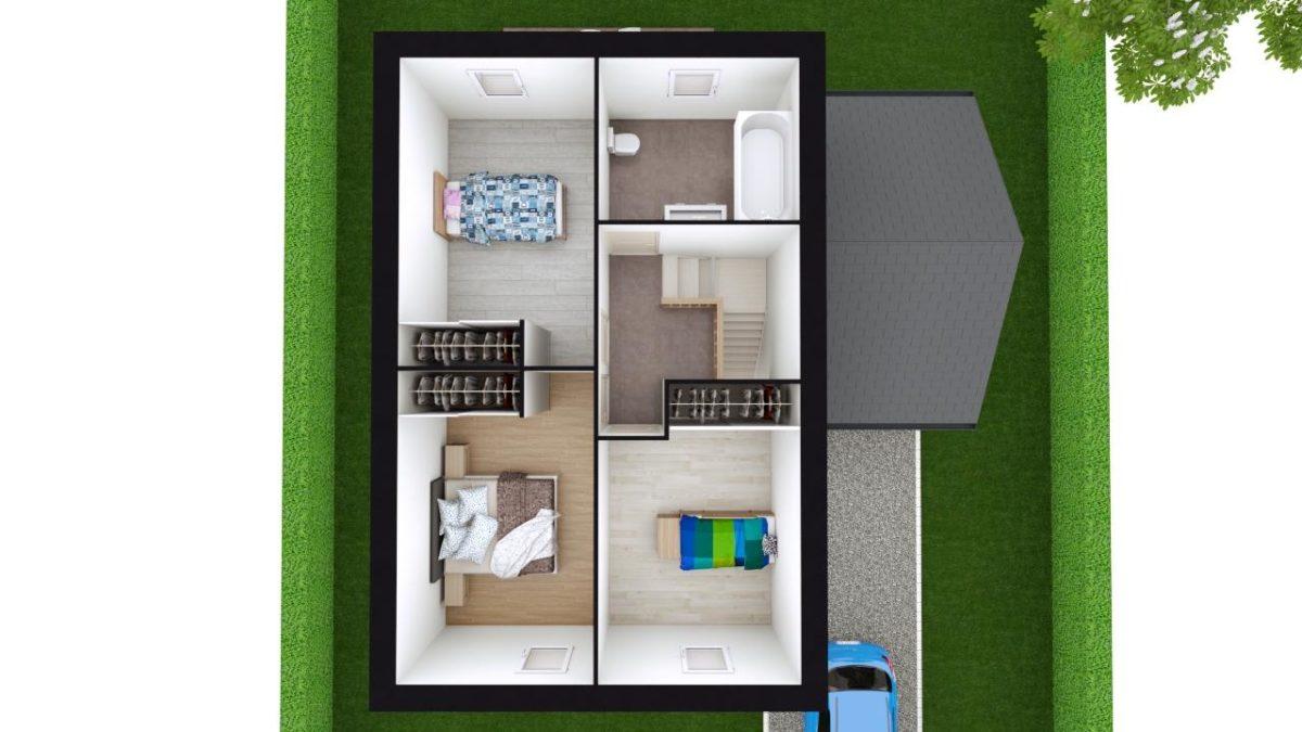 Modèle de Maison GYPSE, 4 pièces de 91m² - Proposition d'Aménagement du R+1
