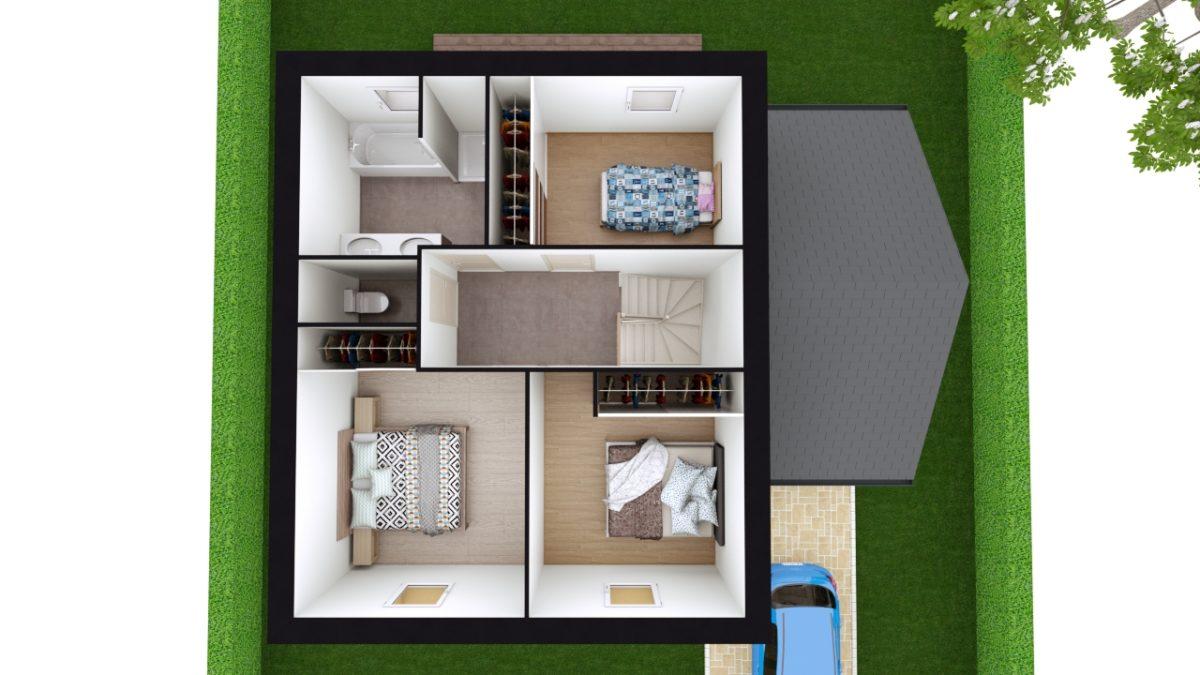 Modèle de Maison MAERL, 5 pièces de 93m² - Proposition d'Aménagement du R+1