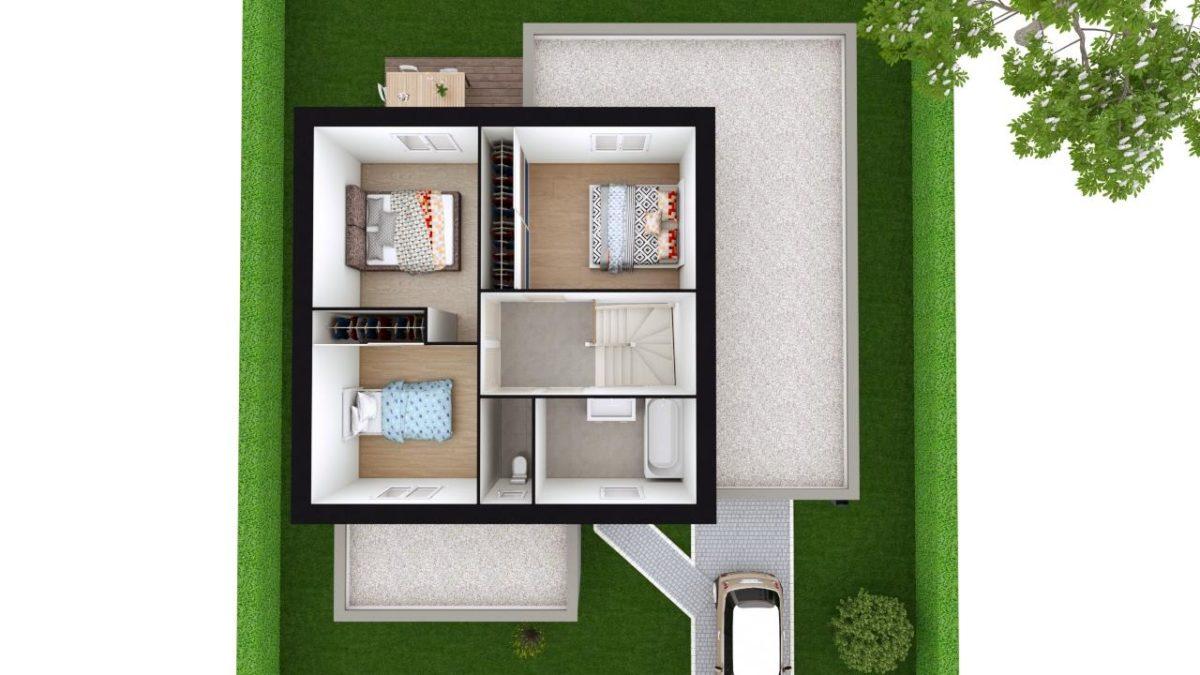 Modèle de Maison POUZZOLANE, 6 pièces de 121m² - Proposition d'Aménagement du R+1