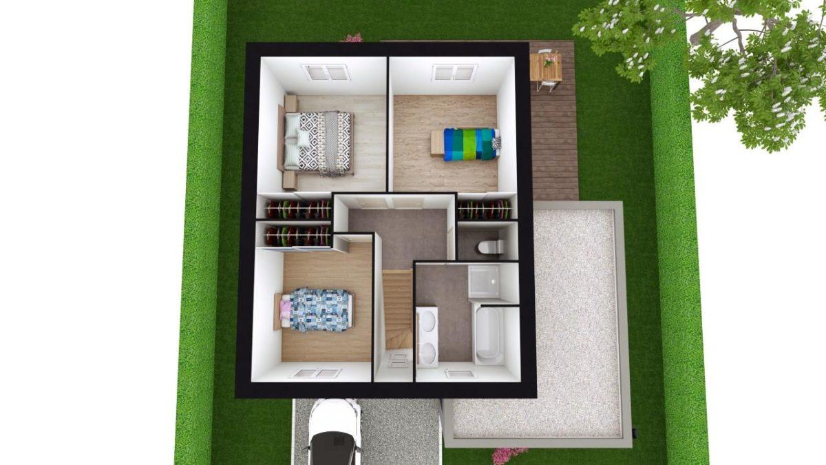 Modèle de Maison MANGANÈSE, 5 pièces de 96m² - Proposition d'Aménagement du R+1
